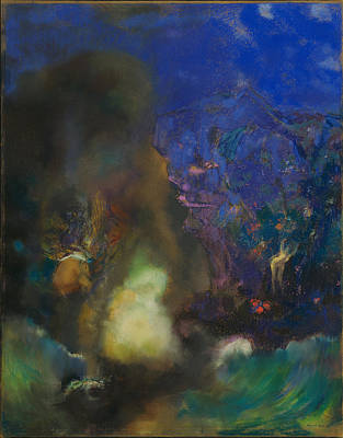 Painting - Roger And Angelica by Odilon Redon