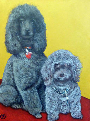 Roger And Bella Art Print by Tom Roderick