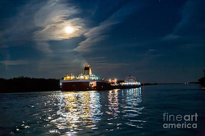 Sault Ste Marie Photograph - Roger Blough In The Moonlight  9296 by Norris Seward