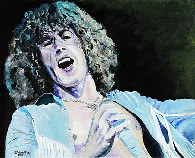 Painting - Roger Daltrey At Woodstock by Bruce Schmalfuss