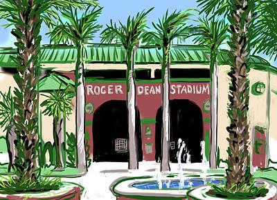 Roger Dean Stadium Art Print