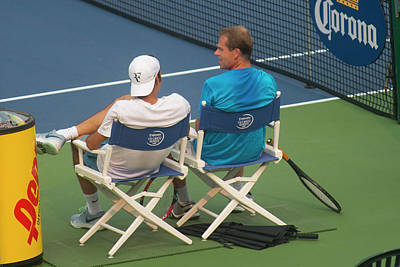Federer Photograph - Roger Feder And Stefan Edberg by Bill Cubitt