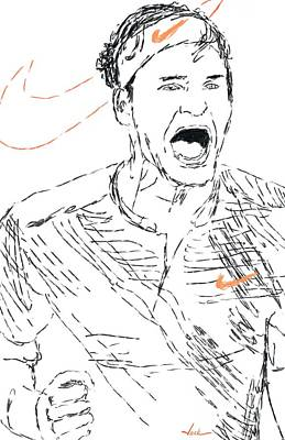 Roger Federer Painting - Roger Federer by Jack Bunds