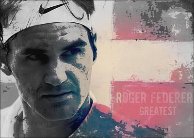 Tennis Digital Art - Roger Federer  by Paul Lovering