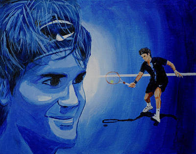 Roger Federer Painting - Roger Federer by Quwatha Valentine