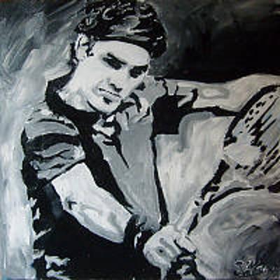 Painting - Roger Federer by Sarah LaRose Kane