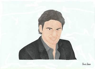 Drawing - Roger Federer by Toni Jaso