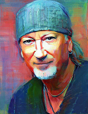Digital Art - Roger Glover Deep Purple Portrait 1 by Yury Malkov