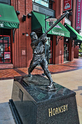 Photograph - Roger Hornsby Statue # 2 - Busch Stadium by Allen Beatty