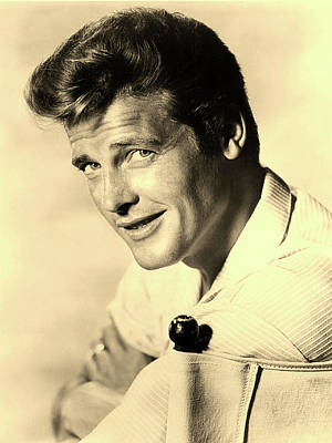 Photograph - Roger Moore 1960 by A B C