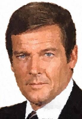 Painting - Roger Moore by Samuel Majcen