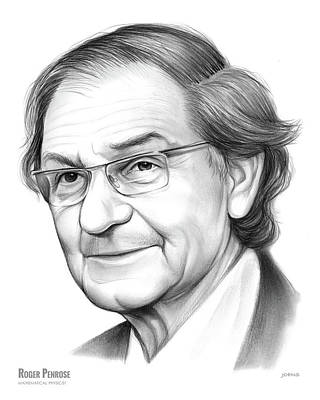 Drawing - Roger Penrose by Greg Joens