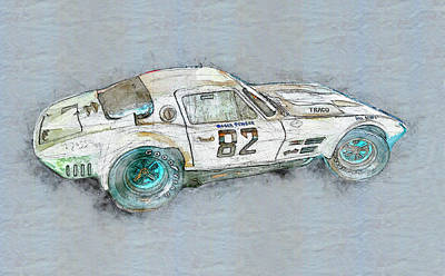Mixed Media - Roger Penske Racing  by David Wagner