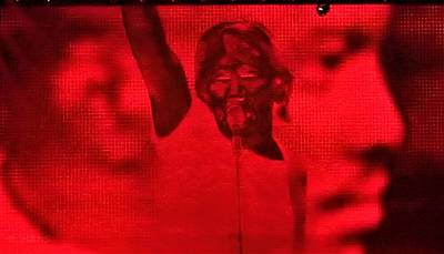 Photograph - Roger Waters Negative Red by Rob Hans