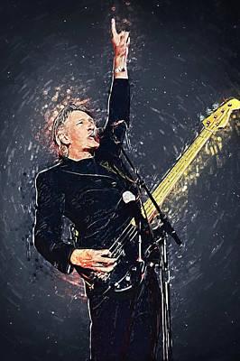 Rock N Roll Digital Art - Roger Waters by Taylan Apukovska