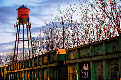Photograph - Rogers Arkansas Water Tower Along The Rail by Gregory Ballos