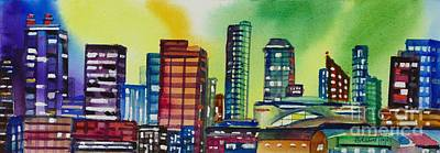 Sports Paintings - Rogers Place, Edmonton by Mohamed Hirji