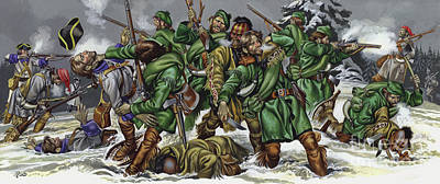 Painting - Rogers Rangers Fought A Hand-to-hand Battle In The Snow With The French And Indians by Ron Embleton