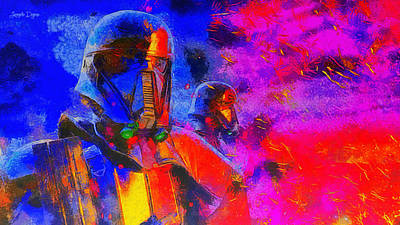 Galactic Painting - Rogue One Blacktrooper - Pa by Leonardo Digenio