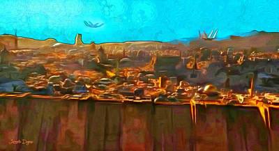 Rogue One City - Pa Art Print by Leonardo Digenio