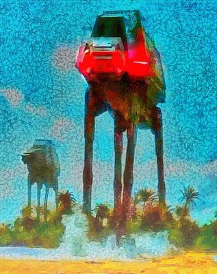Rogue One Legged Tank - Pa Art Print