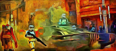 Occupy Painting - Rogue One Occupation - Pa by Leonardo Digenio