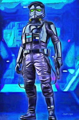 Back Painting - Rogue One Pilot - Pa by Leonardo Digenio