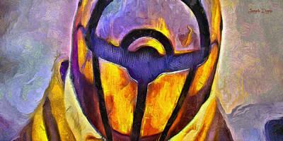 Death Star Digital Art - Rogue One Protected - Da by Leonardo Digenio