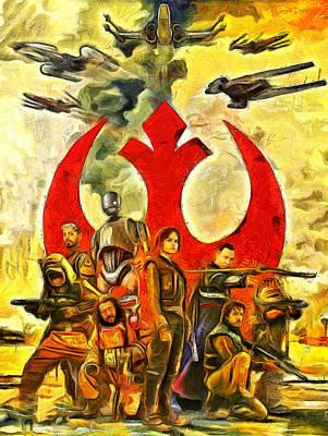 Rogue One Rebel Team - Pa Print by Leonardo Digenio