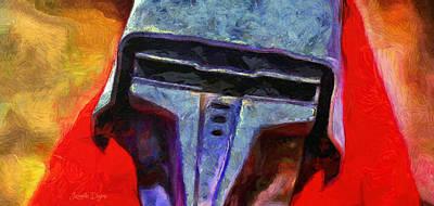 Rogue One Steel Helmet - Da Art Print by Leonardo Digenio