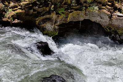 Home Photograph - Rogue River Lava Tube Rapids by David Millenheft