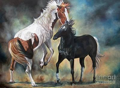 Painting - Rogue Stallions by Heidi Parmelee-Pratt