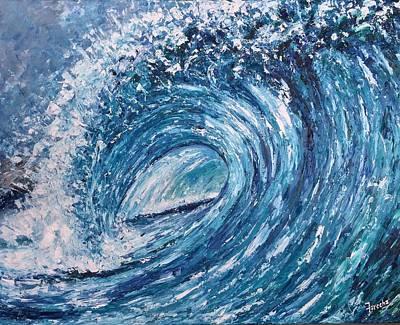 Painting - Rogue Wave- Mun Moji - Soul Wave Series  by Fareeha Khawaja