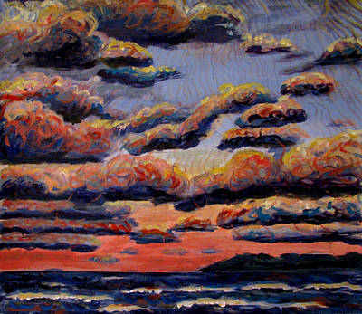 Painting - Roiling Skies by Art Nomad Sandra  Hansen