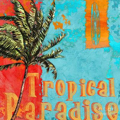 Palmetto Painting - Rojo Palm I by Paul Brent
