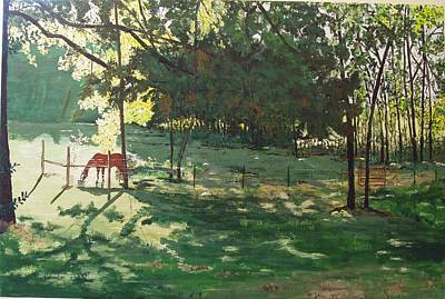 Arkansas Painting - Rojo by Sharon  De Vore