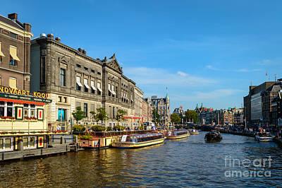 Amsterdam Digital Art - Rokin Canal, Amstredam by Sinisa CIGLENECKI