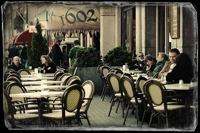 Photograph - Rokin Street Cafe. Old Cards From Amsterdam by Jenny Rainbow