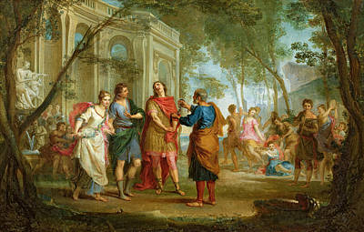 Crowds Painting - Roland Learns Of The Love Of Angelica And Medoro  by Louis Galloche