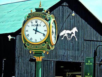 Kentucky Horse Park Digital Art - Rolex Clock by Bob Welch
