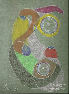 Drawing - Roley Poley Vertical by Rod Ismay