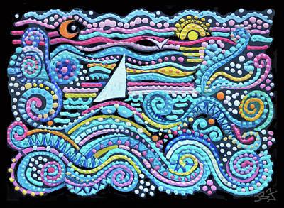 Painting - Rolling Seas by Jean Batzell Fitzgerald