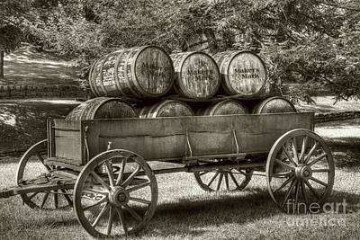 Horse And Wagon Photograph - Roll Out The Barrels Sepia Tone by Mel Steinhauer