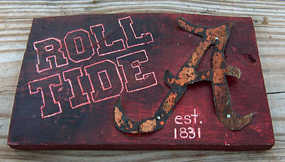 Football Royalty-Free and Rights-Managed Images - Roll Tide Alabama by Racquel Morgan