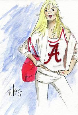 Painting - Roll Tide by PJ Lewis