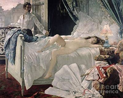 Bed Painting - Rolla by Henri Gervex