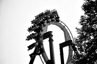 Six Flags Digital Art - Rollar Coasters  by Alicia Morales