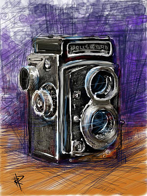 Vintage Camera Mixed Media - Rollei by Russell Pierce