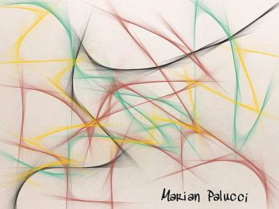Roller Coaster Mixed Media - Roller Coaster Abstract by Marian Palucci-Lonzetta