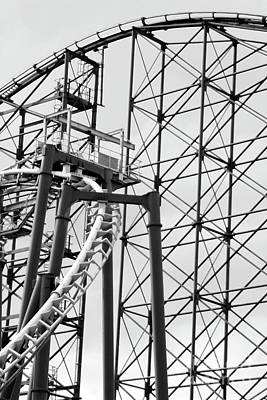Photograph - Roller Coaster Black And White by Doc Braham